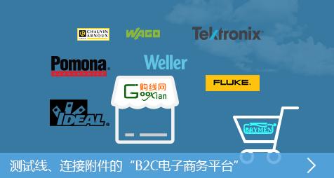 测试线及连接附件的B2C电子商务品台